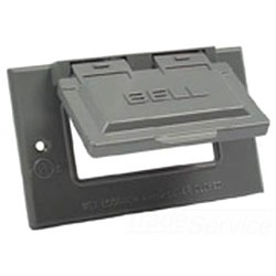 Bell 5101-0 | 1G WP HORIZONTAL COVER GFCI GRY | BE5101-0 | 05016951010 | KM Electric Supply, Inc