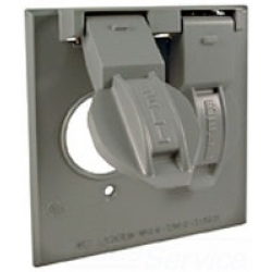 Bell 5157-0 | 2G WP COVER (2)SINGLE RECEPTACLE GRY | BE5157-0 | 05016951570 | KM Electric Supply, Inc