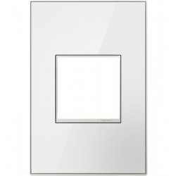 Adorne AWM1G2MW4 | Mirror White Mirror White 1-Gang Wall Plate | A6AWM1G2MW4 | 78500702352 | KM Electric Supply, Inc