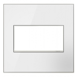 Adorne AWM2GMW4 | Mirror White Mirror White 2-Gang Wall Plate | A6AWM2GMW4 | 78500702445 | KM Electric Supply, Inc