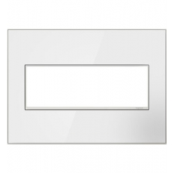 Adorne AWM3GMW4 | Mirror White Mirror White 3-Gang Wall Plate | A6AWM3GMW4 | 78500702404 | KM Electric Supply, Inc