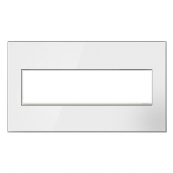 Adorne AWM4GW4 | White Custom Wall Plate 4-Gang White Trim | A6AWM4GW4 | 78500702392 | KM Electric Supply, Inc