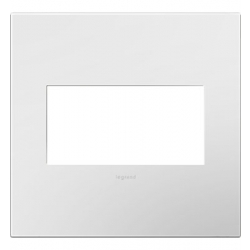 Adorne AWP2GWH10 | Gloss White Gloss White 2-Gang Wall Plate | A6AWP2GWH10 | 78500702396 | KM Electric Supply, Inc