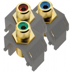 Adorne ACRGBRCAFM1 | KYSTN RED/GREEN/BLUE RCA TO F CONN | A6ACRGBRCAFM1 | 80442806549 | KM Electric Supply, Inc