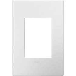 Adorne AWP1G3WH4 | GLOSS WHITE - 1G/3MOD WALL PLATE | A6AWP1G3WH4 | 78500702383 | KM Electric Supply, Inc