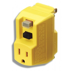 Coleman Cable 14650-013-6 | GFCI ADAPTER YELLOW | 7S14650-013-6 | 02409890265 | KM Electric Supply, Inc